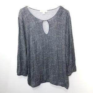Michael Kors Women's Shirt Keyhole Front Size XL